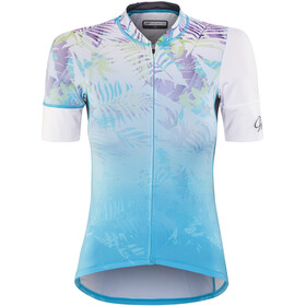 Protective HP Tropical Mask Bike Jersey Shortsleeve Women blue/white